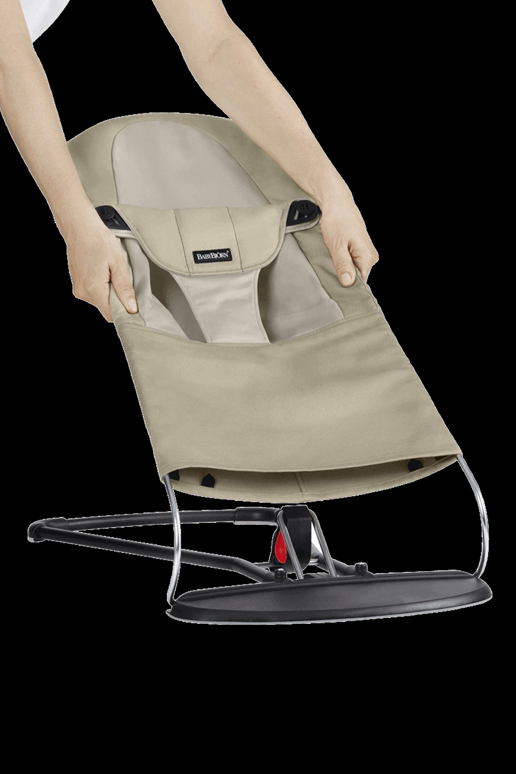BABYBJÖRN Zusätzlicher Stoffsitz für Babywippe Balance Soft Khaki/Beige Cotton