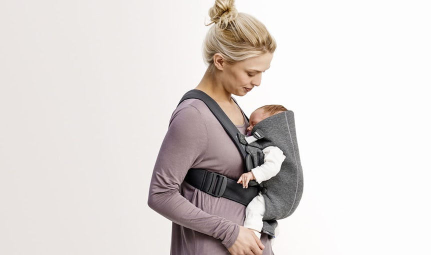 Baby Carrier Mini Dark Grey in 3D Jersey - BABYBJÖRN