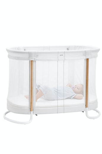 Baby Crib in a safe design, White airy Mesh - BABYBJÖRN
