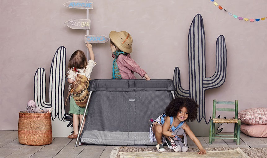 Travel Cot Easy Go Anthracite in Mesh - BABYBJÖRN