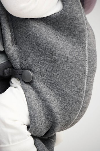 Baby Carrier Mini in dark grey soft and cosy 3D jersey - BABYBJÖRN