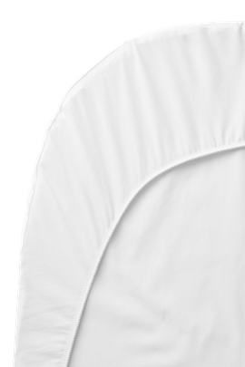 Fitted Sheet for Baby Cot White Organic Cotton - BABYBJÖRN