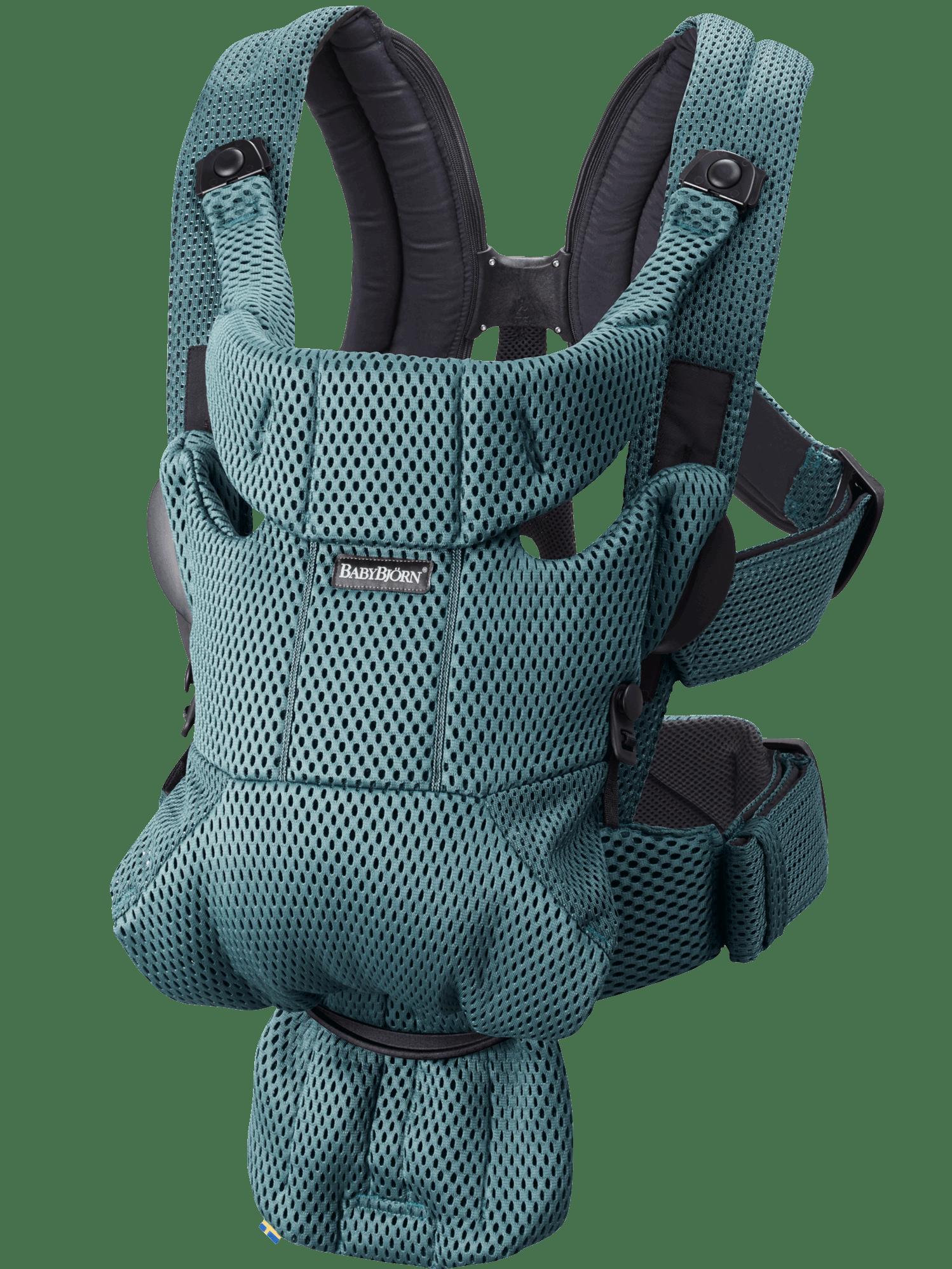 Mochila Porta Bebé Move Verde Grisáceo 3D Mesh
