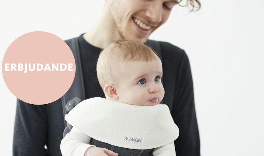Bärsele Mini plus mjuk haklapp i 2-pack - BABYBJÖRN