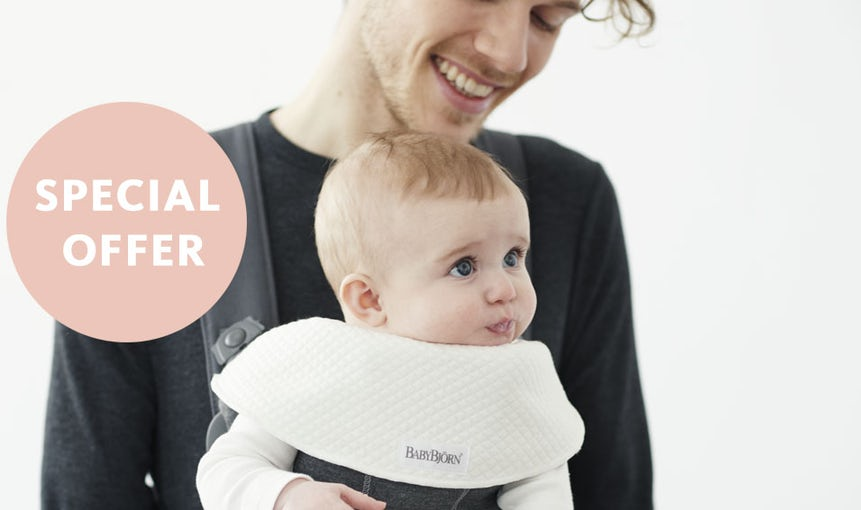 Baby Carrier Mini Special Offer with Bib for free - BABYBJÖRN
