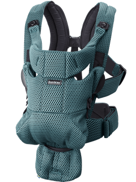 Baby Carrier Move Sage Green in airy and soft 3D Mesh - BABYBJÖRN