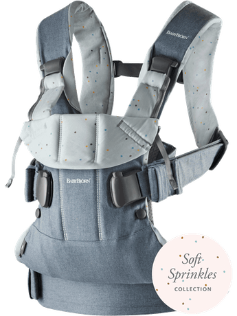 Baby Carrier One Light Denim Blue/Blue Sprinkles Cotton Mix - BABYBJÖRN
