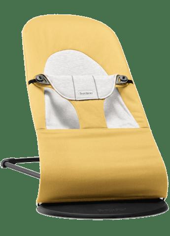Baby Sitter Balance Soft Gul Grå Cotton Jersey - BABYBJÖRN
