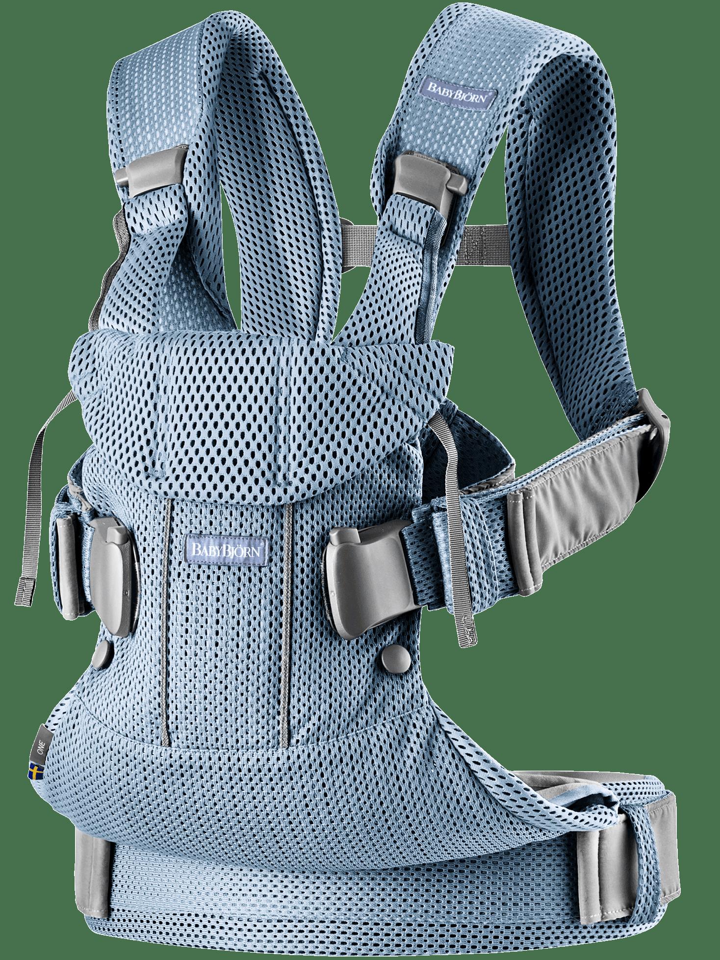 BABYBJÖRN Babytrage One Air Schieferblau 3D Mesh
