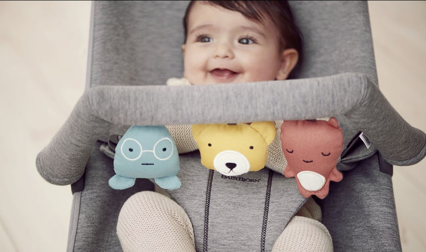 Babywippe Bliss Hellgrau 3D Jersey - BABYBJÖRN