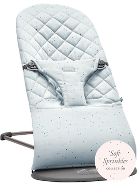 Bouncer Bliss Blue Sprinkles Cotton- BABYBJÖRN