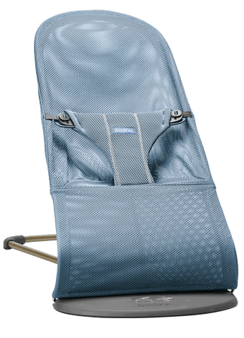 Bouncer Bliss in Slate blue soft and airy Mesh with natural rocking without batteries