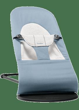 Hamaca Balance Soft Azul Gris Cotton Jersey - BABYBJÖRN