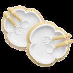 Piatto Cucchiaio e Forchetta per Bambini Giallo Chiaro - BABYBJÖRN