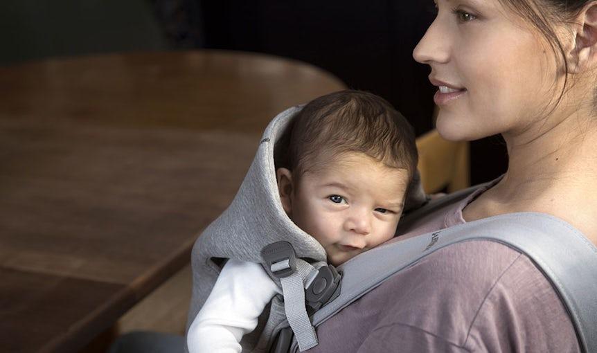 Porte-bébé Mini Gris Clair 3D Jersey