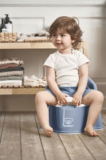 Potty Chair Deep Blue and White - BABYBJÖRN