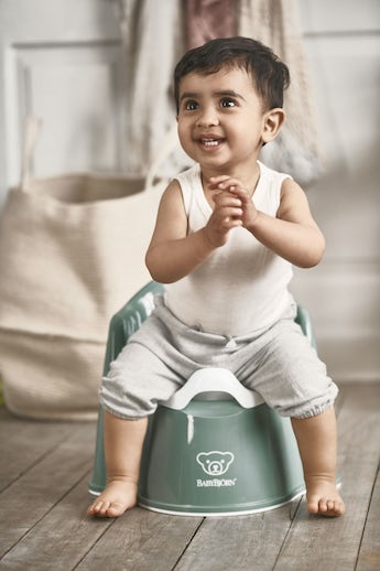 Potty Chair Deep Green and White - BABYBJÖRN