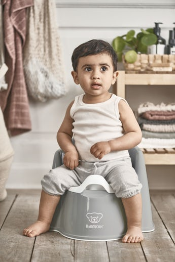 Potty Chair Grey White - BABYBJÖRN