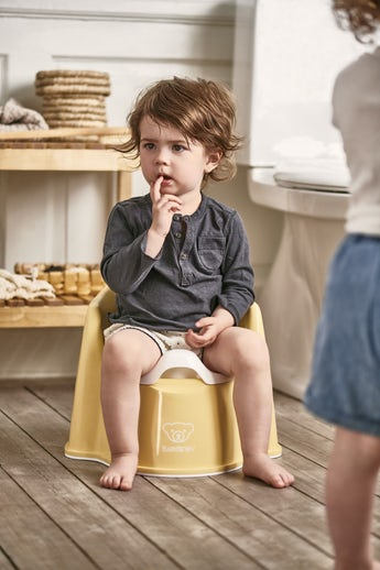 Potty Chair Powder Yellow/White - BABYBJÖRN