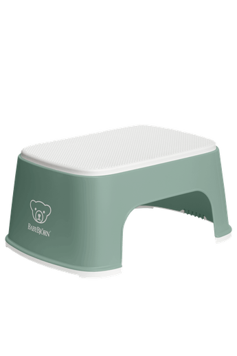 Step Stool Deep Green White - BABYBJÖRN