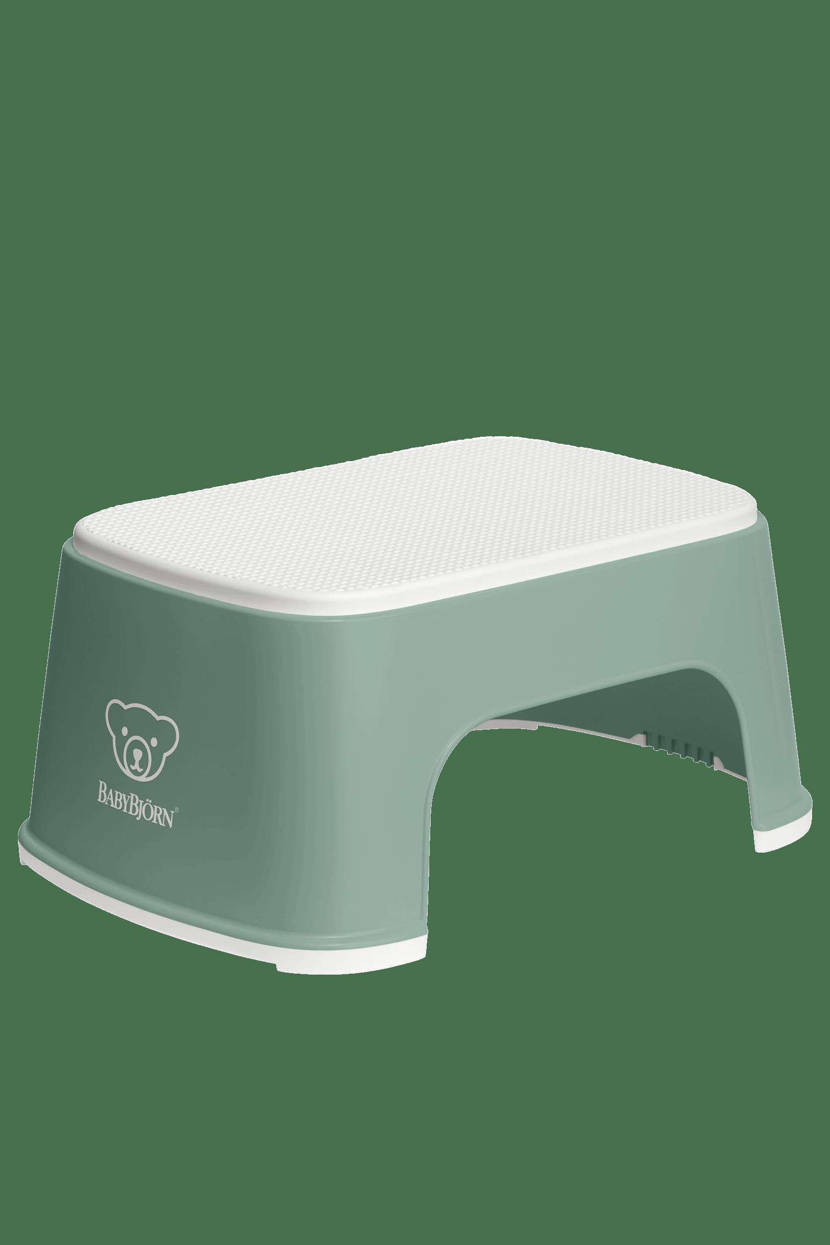 BABYBJÖRN Tritthocker - Graugrün/Weiß