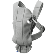Baby Carrier Mini in Lightgrey soft 3D jersey - BABYBJÖRN