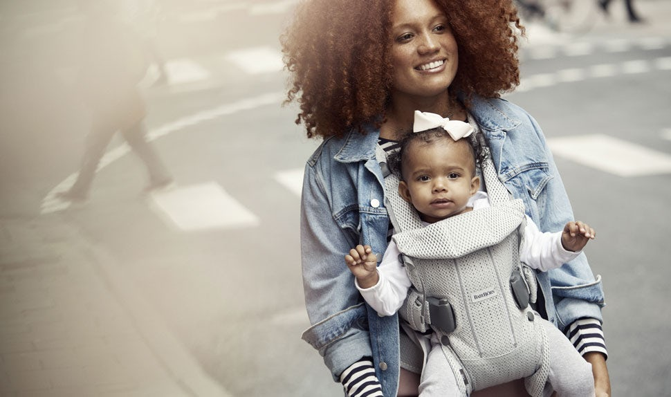Baby Carrier One Air Silver Mesh - BABYBJÖRN