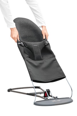 Fabric Seat for Bouncer Bliss Charcoal Grey - BABYBJÖRN