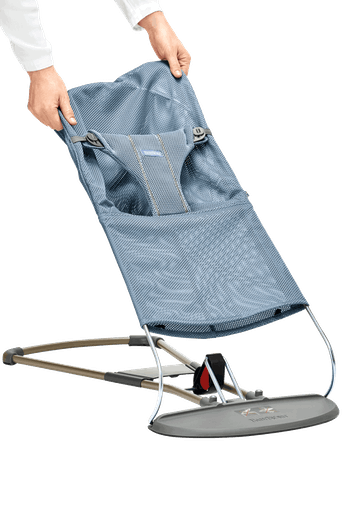 Fabric Seat for Bouncer Bliss Slate Blue Mesh - BABYBJÖRN