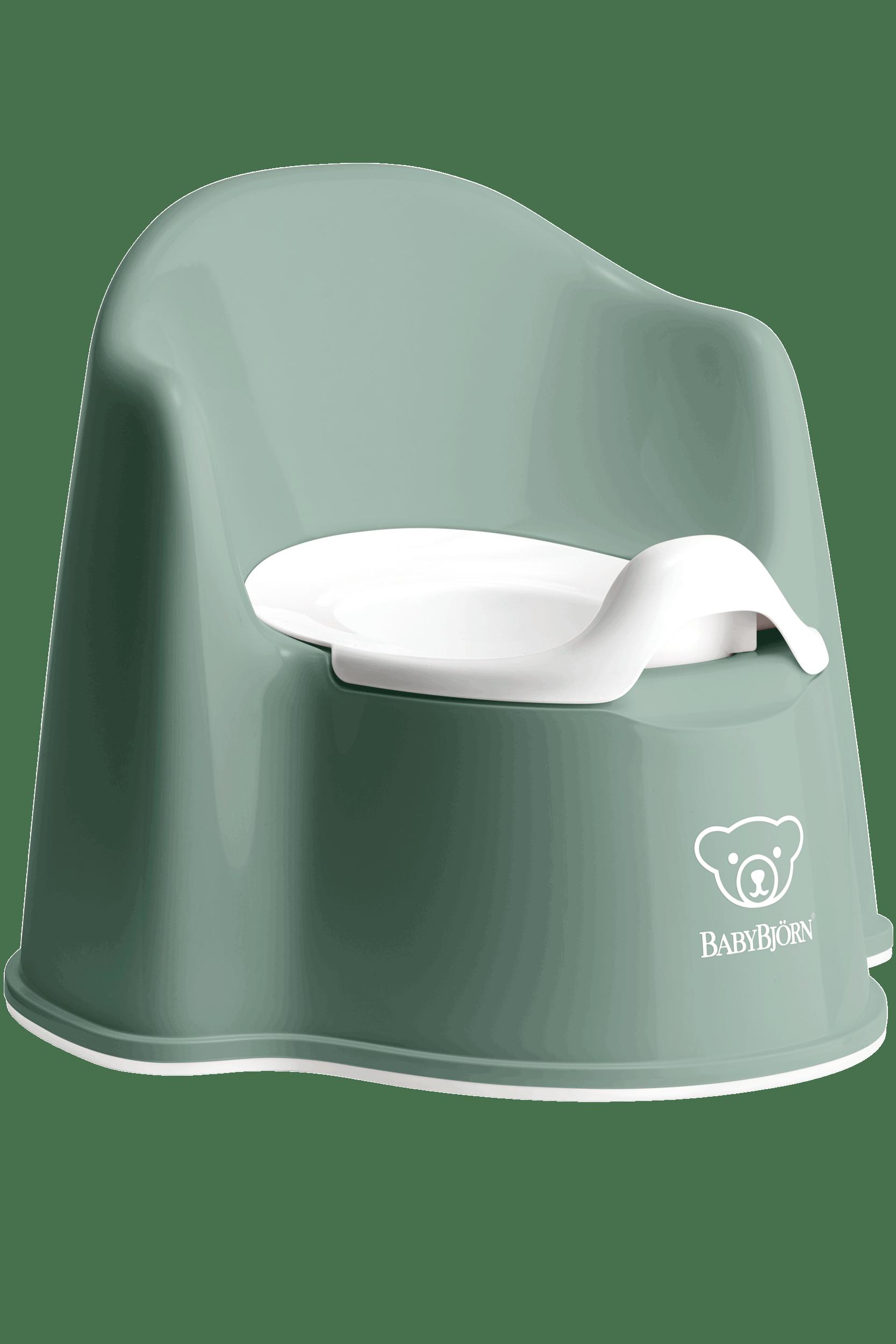 BABYBJÖRN Topfstuhl - Graugrün/Weiß