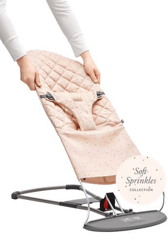 Zusätzlicher Stoffsitz für die Babywippe Bliss Rosa Streusel - BABYBJÖRN