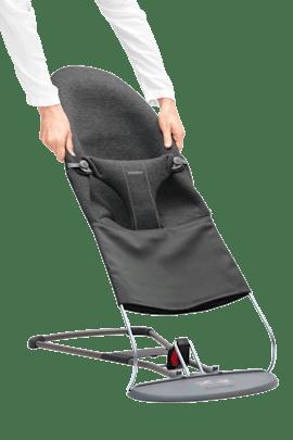 Zusatzlicher Stoffsitz fur Babywippe Bliss Schwarzgrau 3D Jersey - BABYBJÖRN