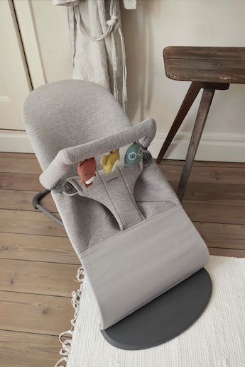 Toy for bouncer in soft jersey from newborn