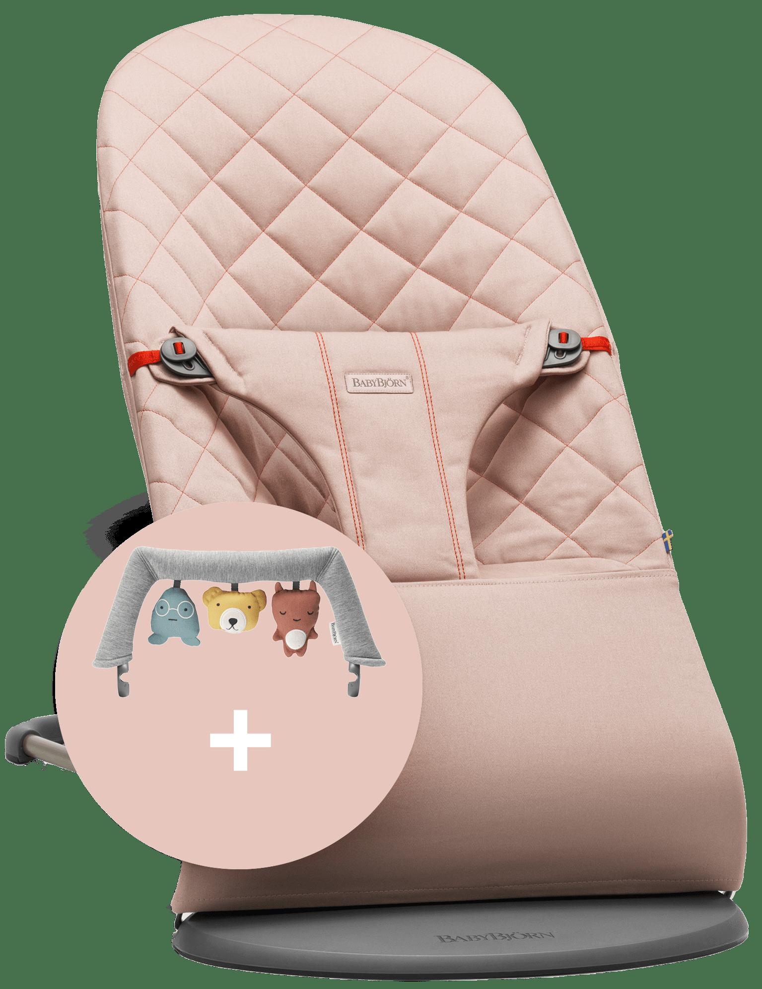 BABYBJÖRN Babywippe und Spielzeug Altrosa Cotton