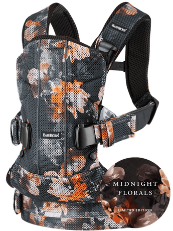 Baby Carrier One Air Black Midnight Florals 3D Mesh - BABYBJÖRN
