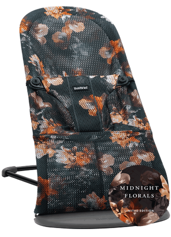 Bouncer Bliss Black Midnight Florals Mesh - BABYBJÖRN