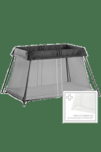 Lit Parapluie Light Noir avec Drap Housse - BABYBJÖRN