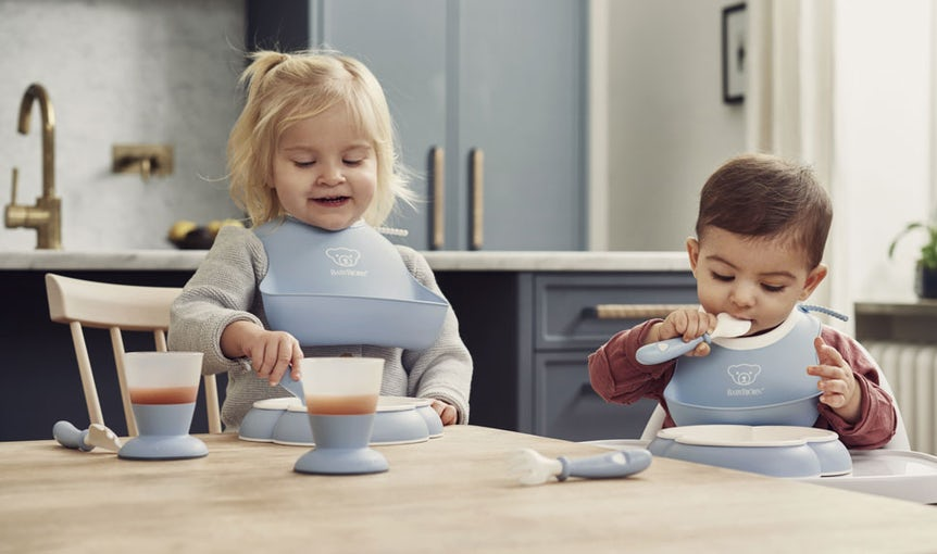 Baby Feeding Set in Powder Blue - BABYBJÖRN