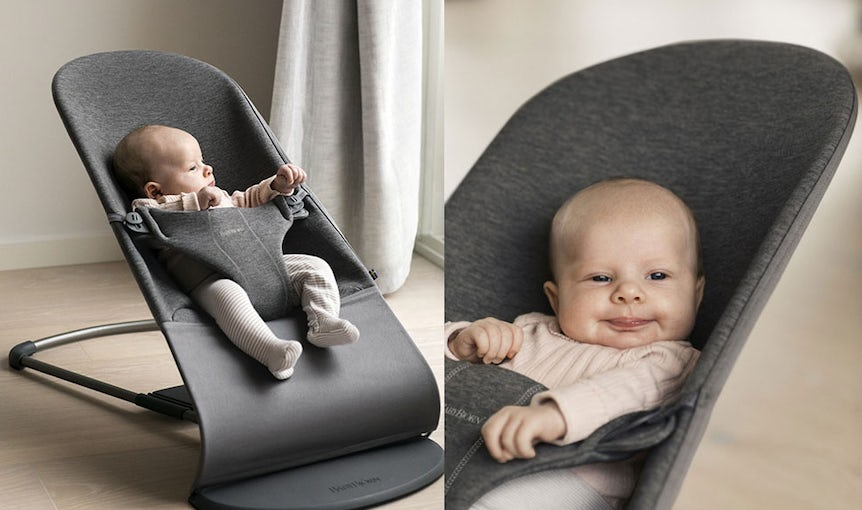 Bouncer Bliss in Charcoal Grey 3D Jersey - BABYBJÖRN