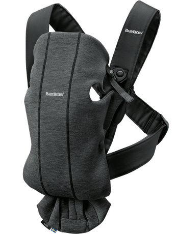 Baby Carrier Mini Charcoal grey in 3D Jersey - BABYBJÖRN