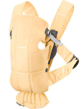 Baby Carrier Mini Light Yellow in Cotton - BABYBJÖRN