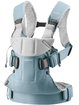 Baby Carrier One Light blue/Light grey Cotton-mix - BABYBJÖRN