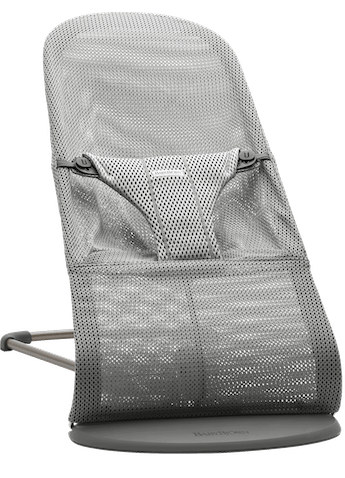 Bouncer Bliss in Grey in soft and airy Mesh with natural rocking without batteries