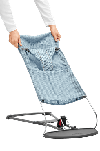 Extra Fabric Seat for Baby Bouncer Bliss in Sky blue Mesh - BABYBJÖRN