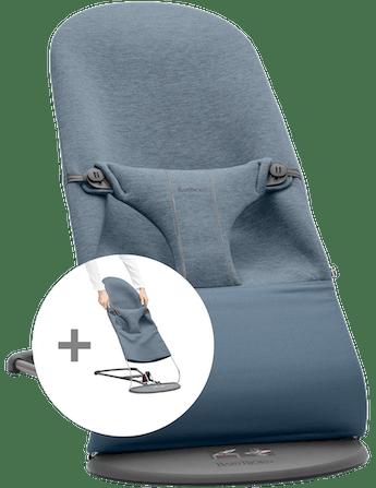 Hamaca con asiento de tela adicional Azul Grisaceo 3D Jersey - BABYBJÖRN