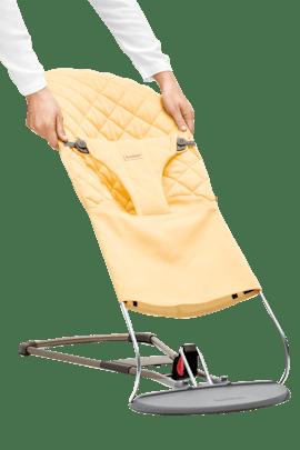 Stoffsitz für Babywippe Bliss Hellgelb Baumwolle - BABYBJÖRN