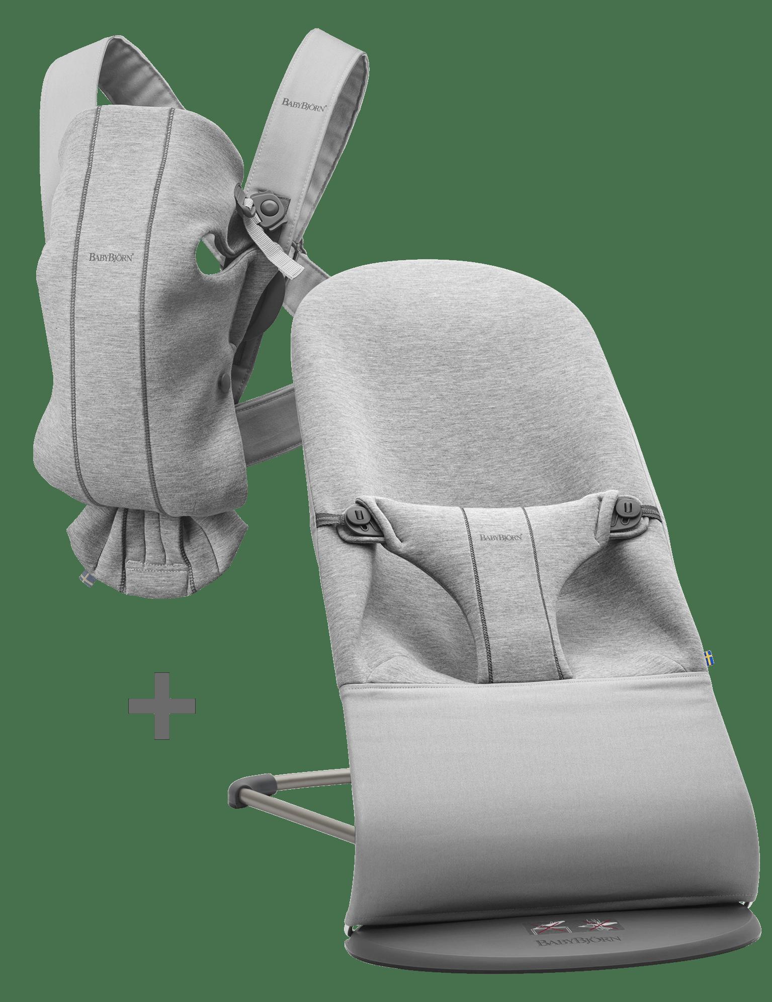 BABYBJÖRN Basic Startkit för nyfödda - Ljusgrå, 3D Jersey