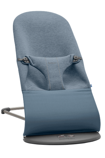 Startkit with Baby Carrier Mini and Bouncer Bliss in Dove Blue 3D Jersey - BABYBJÖRN