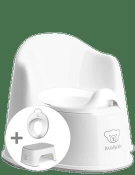 Pour l'apprentissage du pot : Pot Fauteuil, Marchepied et Réducteur de Toilette.