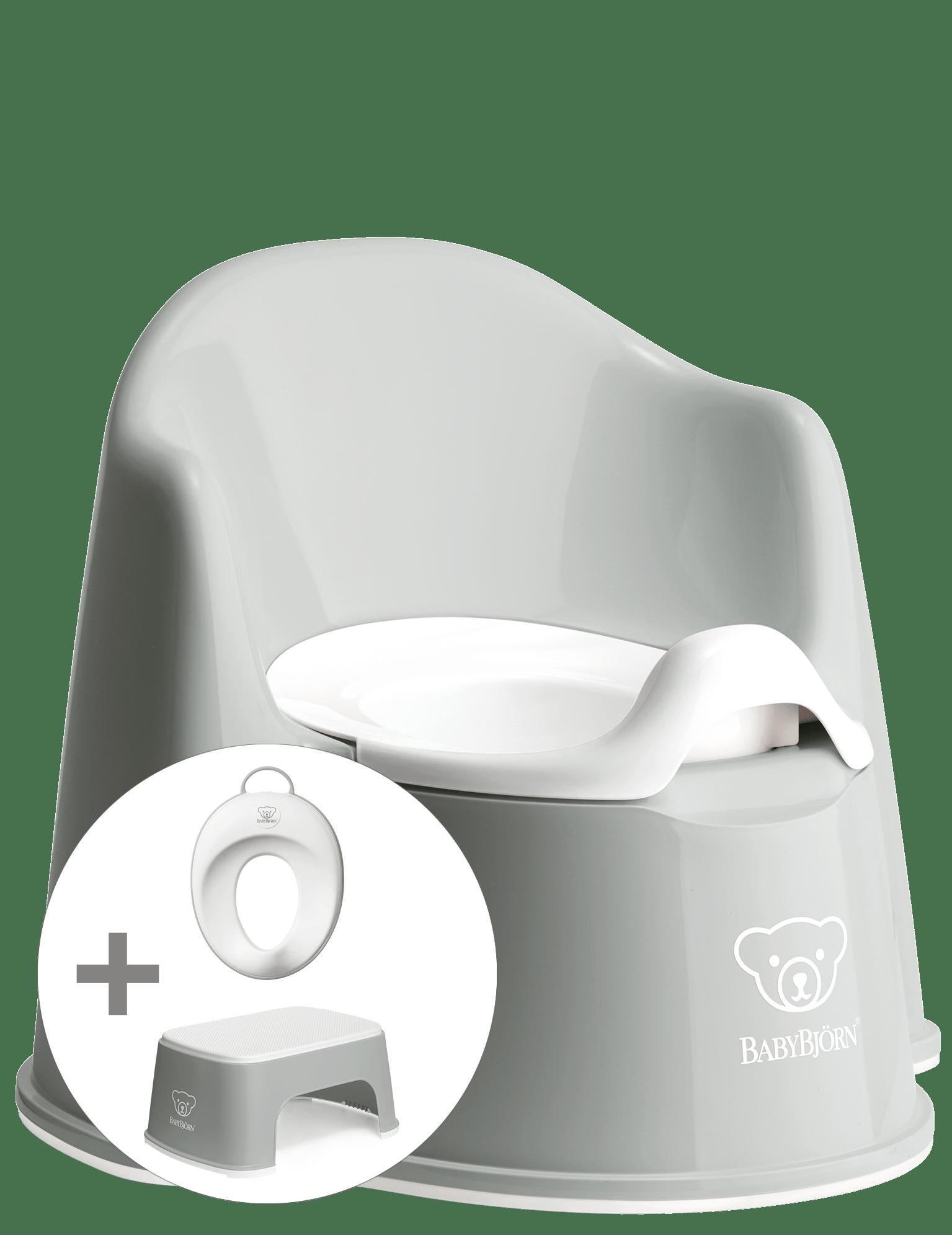 BABYBJÖRN Töpfchentraining Startpaket - Grau/weiß